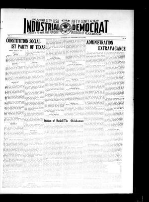 Primary view of object titled 'Industrial Democrat (Oklahoma City, Okla.), Vol. 1, No. 42, Ed. 1 Saturday, October 22, 1910'.