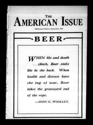 Primary view of object titled 'The American Issue (Oklahoma City, Okla.), Vol. 7, No. 9, Ed. 1 Friday, September 1, 1911'.