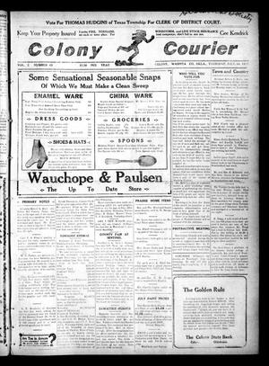 Primary view of object titled 'Colony Courier (Colony, Okla.), Vol. 3, No. 45, Ed. 1 Thursday, July 18, 1912'.