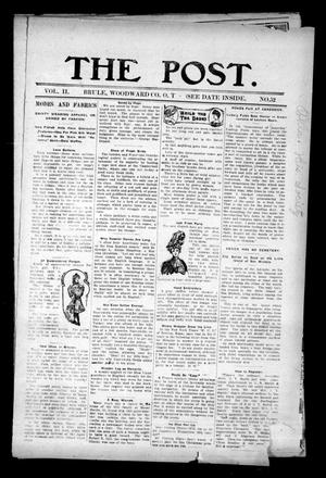 Primary view of object titled 'The Post. (Brule, Okla. Terr.), Vol. 2, No. 52, Ed. 1 Friday, June 14, 1907'.