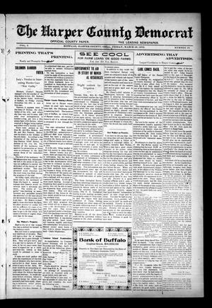 Primary view of object titled 'The Harper County Democrat (Buffalo, Okla.), Vol. 5, No. 49, Ed. 1 Friday, March 29, 1912'.