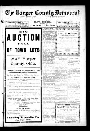 Primary view of object titled 'The Harper County Democrat (Buffalo, Okla.), Vol. 5, No. 43, Ed. 1 Friday, February 16, 1912'.