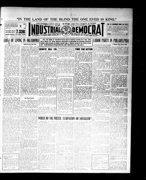 Primary view of object titled 'Industrial Democrat (Oklahoma City, Okla.), Vol. 1, No. 18, Ed. 1 Saturday, April 30, 1910'.