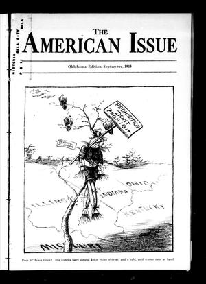 Primary view of object titled 'The American Issue (Oklahoma City, Okla.), Vol. 11, No. 9, Ed. 1 Wednesday, September 1, 1915'.