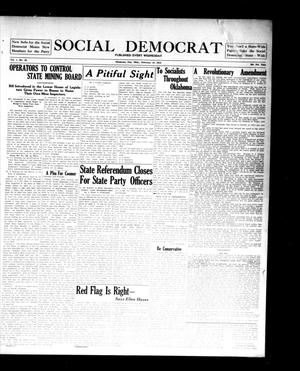 Primary view of object titled 'Social Democrat (Oklahoma City, Okla.), Vol. 1, No. 52, Ed. 1 Wednesday, February 12, 1913'.
