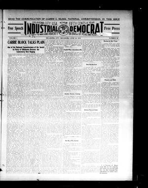 Primary view of object titled 'Industrial Democrat (Oklahoma City, Okla.), Vol. 1, No. 25, Ed. 1 Saturday, June 18, 1910'.