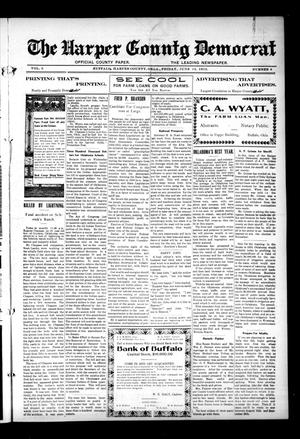 Primary view of object titled 'The Harper County Democrat (Buffalo, Okla.), Vol. 6, No. 8, Ed. 1 Friday, June 14, 1912'.