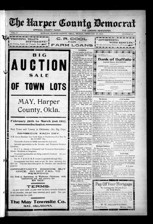 Primary view of object titled 'The Harper County Democrat (Buffalo, Okla.), Vol. 5, No. 44, Ed. 1 Friday, February 23, 1912'.