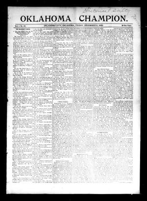 Primary view of Oklahoma Champion. (Oklahoma City, Okla.), Vol. 1, No. 45, Ed. 1 Friday, December 4, 1896