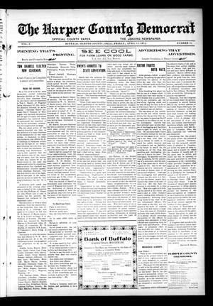 Primary view of object titled 'The Harper County Democrat (Buffalo, Okla.), Vol. 5, No. 51, Ed. 1 Friday, April 12, 1912'.