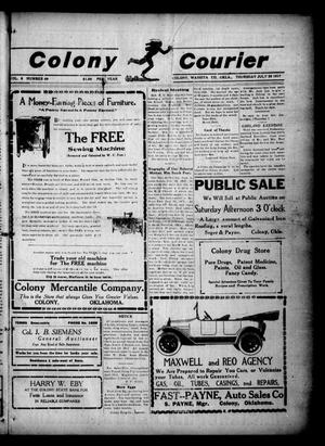 Primary view of object titled 'Colony Courier (Colony, Okla.), Vol. 8, No. 49, Ed. 1 Thursday, July 26, 1917'.