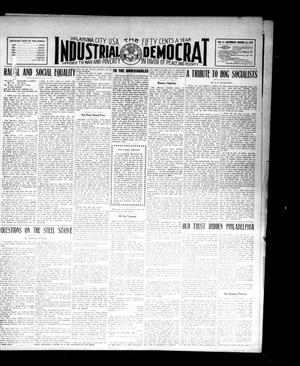 Primary view of object titled 'Industrial Democrat (Oklahoma City, Okla.), Vol. 1, No. 11, Ed. 1 Saturday, March 12, 1910'.