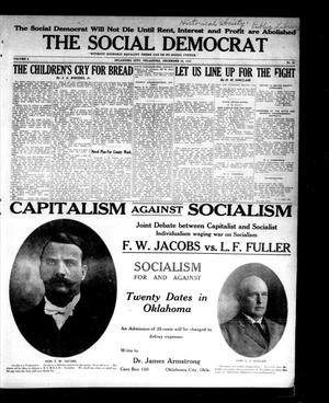 Primary view of object titled 'The Social Democrat (Oklahoma City, Okla.), Vol. 2, No. 90, Ed. 1 Wednesday, December 24, 1913'.