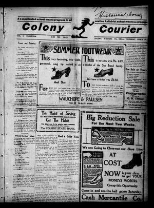 Primary view of Colony Courier (Colony, Okla.), Vol. 2, No. 39, Ed. 1 Thursday, June 8, 1911