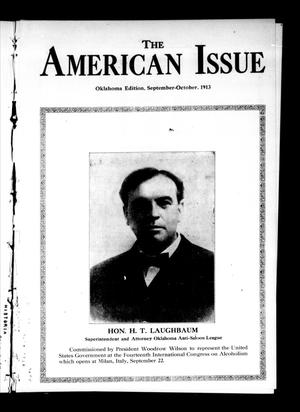 Primary view of object titled 'The American Issue (Oklahoma City, Okla.), Vol. 9, No. 9, Ed. 1 Monday, September 1, 1913'.