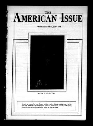 Primary view of object titled 'The American Issue (Oklahoma City, Okla.), Vol. 9, No. 7, Ed. 1 Tuesday, July 1, 1913'.