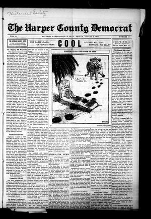 Primary view of object titled 'The Harper County Democrat (Buffalo, Okla.), Vol. 10, No. 18, Ed. 1 Friday, August 4, 1916'.