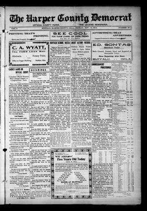 Primary view of object titled 'The Harper County Democrat (Buffalo, Okla.), Vol. 6, No. 30, Ed. 1 Friday, November 15, 1912'.