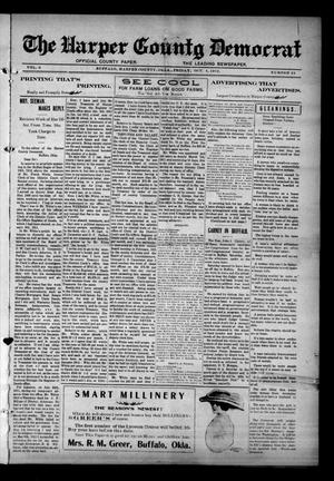 Primary view of object titled 'The Harper County Democrat (Buffalo, Okla.), Vol. 6, No. 24, Ed. 1 Friday, October 4, 1912'.