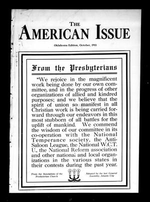 Primary view of object titled 'The American Issue (Oklahoma City, Okla.), Vol. 7, No. 10, Ed. 1 Sunday, October 1, 1911'.