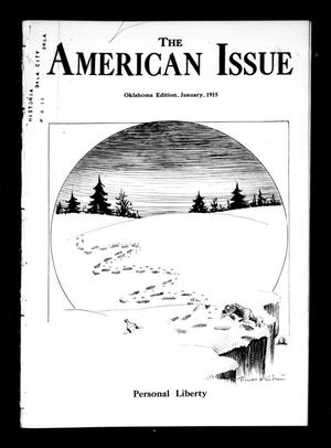 Primary view of object titled 'The American Issue (Oklahoma City, Okla.), Vol. 11, No. 1, Ed. 1 Friday, January 1, 1915'.