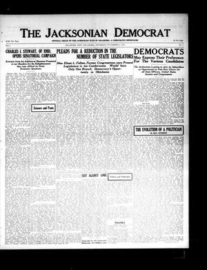 Primary view of object titled 'The Jacksonian Democrat (Oklahoma City, Okla.), Vol. 1, No. 7, Ed. 1 Thursday, November 6, 1913'.