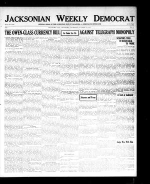 Primary view of object titled 'Jacksonian Weekly Democrat (Oklahoma City, Okla.), Vol. 1, No. 5, Ed. 1 Thursday, October 23, 1913'.