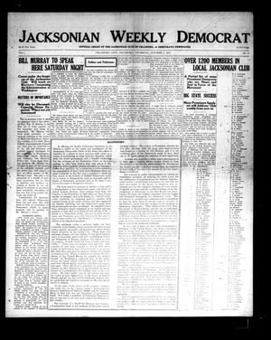 Primary view of object titled 'Jacksonian Weekly Democrat (Oklahoma City, Okla.), Vol. 1, No. 2, Ed. 1 Thursday, October 2, 1913'.