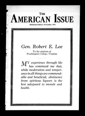 Primary view of object titled 'The American Issue (Oklahoma City, Okla.), Vol. 8, No. 11, Ed. 1 Friday, November 1, 1912'.