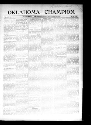 Primary view of object titled 'Oklahoma Champion. (Oklahoma City, Okla.), Vol. 1, No. 47, Ed. 1 Friday, December 18, 1896'.