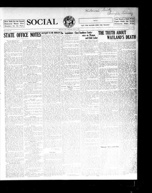Primary view of object titled 'Social Democrat (Oklahoma City, Okla.), Vol. 1, No. 59, Ed. 1 Wednesday, April 9, 1913'.
