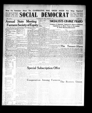 Primary view of object titled 'Social Democrat (Oklahoma City, Okla.), Vol. 1, No. 51, Ed. 1 Wednesday, February 5, 1913'.
