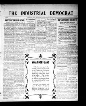 Primary view of object titled 'The Industrial Democrat (Oklahoma City, Okla.), Vol. 1, No. 3, Ed. 1 Saturday, January 15, 1910'.
