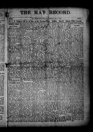 Primary view of object titled 'The May Record. (May, Okla.), Vol. 5, No. 9, Ed. 1 Thursday, May 11, 1916'.