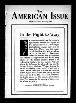 Primary view of object titled 'The American Issue (Oklahoma City, Okla.), Vol. 8, No. 2, Ed. 1 Thursday, February 1, 1912'.