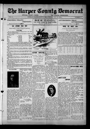 Primary view of object titled 'The Harper County Democrat (Buffalo, Okla.), Vol. 6, No. 27, Ed. 1 Friday, October 25, 1912'.