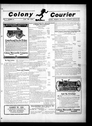 Primary view of Colony Courier (Colony, Okla.), Vol. 6, No. 44, Ed. 1 Thursday, July 22, 1915