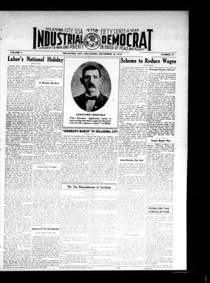 Primary view of object titled 'Industrial Democrat (Oklahoma City, Okla.), Vol. 1, No. 37, Ed. 1 Saturday, September 10, 1910'.