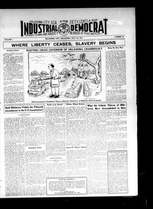 Primary view of object titled 'Industrial Democrat (Oklahoma City, Okla.), Vol. 1, No. 29, Ed. 1 Saturday, July 16, 1910'.