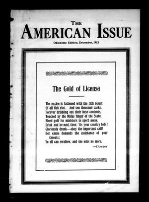 Primary view of object titled 'The American Issue (Oklahoma City, Okla.), Vol. 8, No. 12, Ed. 1 Sunday, December 1, 1912'.