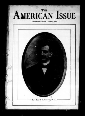 Primary view of object titled 'The American Issue (Oklahoma City, Okla.), Vol. 6, No. 10, Ed. 1 Saturday, October 1, 1910'.