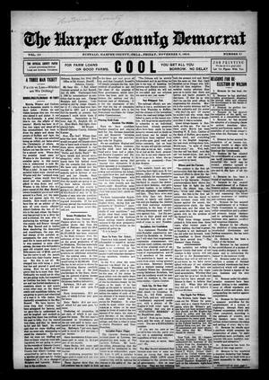 Primary view of object titled 'The Harper County Democrat (Buffalo, Okla.), Vol. 10, No. 31, Ed. 1 Friday, November 3, 1916'.