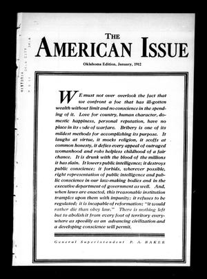 Primary view of object titled 'The American Issue (Oklahoma City, Okla.), Vol. 8, No. 1, Ed. 1 Monday, January 1, 1912'.