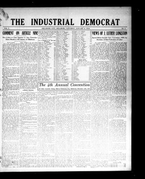 Primary view of object titled 'The Industrial Democrat (Oklahoma City, Okla.), Vol. 1, No. 2, Ed. 1 Saturday, January 8, 1910'.