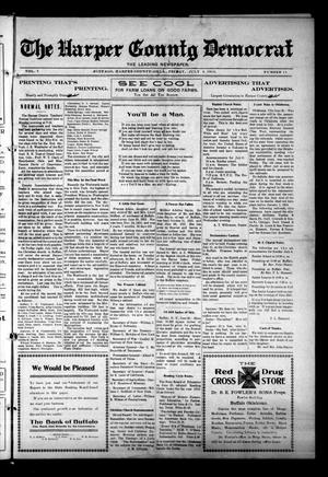 Primary view of object titled 'The Harper County Democrat (Buffalo, Okla.), Vol. 7, No. 11, Ed. 1 Friday, July 4, 1913'.