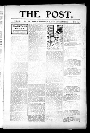 Primary view of The Post. (Brule, Okla. Terr.), Vol. 2, No. 16, Ed. 1 Friday, September 21, 1906