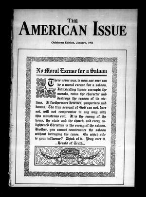 Primary view of object titled 'The American Issue (Oklahoma City, Okla.), Vol. 7, No. 1, Ed. 1 Sunday, January 1, 1911'.
