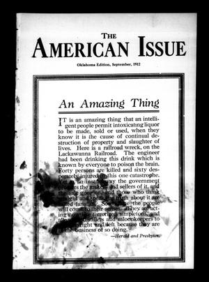 Primary view of object titled 'The American Issue (Oklahoma City, Okla.), Vol. 8, No. 9, Ed. 1 Sunday, September 1, 1912'.