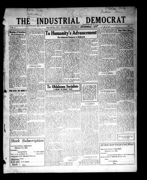 Primary view of object titled 'The Industrial Democrat (Oklahoma City, Okla.), Vol. 1, No. 1, Ed. 1 Saturday, January 1, 1910'.