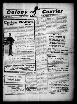 Primary view of Colony Courier (Colony, Okla.), Vol. 8, No. 29, Ed. 1 Thursday, April 5, 1917